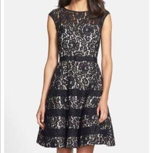 Eliza j cap sleeve fit n flare dress size 2p